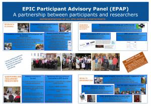 EPIC Participant Advisory Panel Poster 1